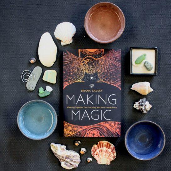 Briana Saussy making magic book
